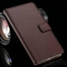 Magnetic Genuine Leather Wallet Card Flip Pouch Stand Case Cover For Samsung