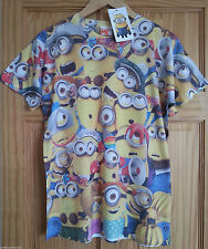 Mens OFFICIAL LICENSED MULTI MINIONS  T Shirt Size XS - XXL  -Primark