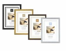 A4 Certificate Photo Picture Frame Black silver Gold Brown pack of 6 / 12