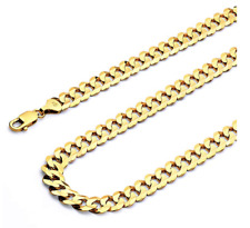 Solid 14k Yellow Gold 5mm Cuban Chain 16 18 20 22 24 26 Inches
