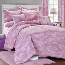 Browning Buckmark Pink Camo Comforter Set & Sheets~Bed in Bag~Twin Full Queen