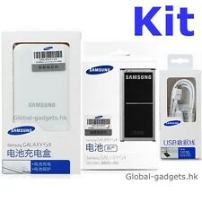 Kit Original SAMSUNG Galaxy S5 SM-G900 Battery and Charger in sealed NFC New