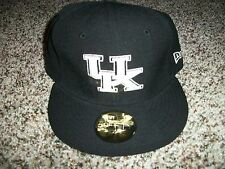 KENTUCKY WILDCATS New NWT Mens Era 59 Fifty Fitted Hat Cap Lid Black 7 1/8 1/2