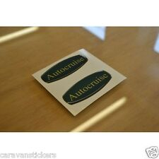 AUTOCRUISE - (RESIN DOMED) -Motorhome Badges Stickers Decals Graphics - PAIR