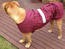 Dog Jacket Cotswool Tartan X Large 75cm/30inch with Reflective Safety Strip