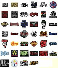 Rock Punk Heavy Metal Music Band Logo Badge Embroidered Patches Iron On Sewing