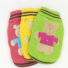 Clothing for Dogs Bear Pet Costume Pet Sweater Dog Jumper Pet Clothes XXS XS S M
