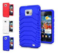 3 Colour Tyre Design Soft Rubber Phone Case Cover For Samsung Galaxy S2 i9100