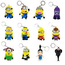 Despicable Me Character Rubber Key Chain Ring Holder Keychain Keyring Optional 3