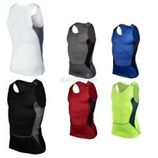 Men Sport Under Shirt Skin Body Armour Compression Wear Base Layer Vest Tank Top