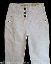 New Womens White High Waisted NEXT Jeans Size 10 8 6 Regular Petite