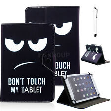 """Don't Touch My Tablet Universal Leather Case Cover For 7""""-7.9""""Inch Tablet PC MID"""