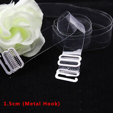 1-10 Clear Bra Straps Transparent Invisible Detachable Adjustable Metal Hook HOT
