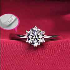 925 Sterling Silver 1.0 Carat Cubic Zirconia Engagement Wedding Party Ring #5-#9