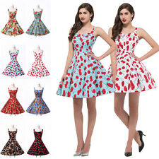 GK 50s Tea Length FLORAL Dress Rockabilly Vintage Swing Housewife Pin Up Evening