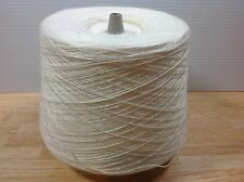 Machine Knitting Cone Yarn Weaving Loom Thread White Synthetic 3/15 - 2lbs +
