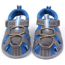 Summer Blue Red Kids Casual Sandals Baby Boy Soft Cotton Non-slip Shoes 0-12M