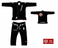 X-Guard Bjj Jiu Jitsu Gi Premium Pro Team Kimono BLACK BLUE WHITE + RASH GUARD