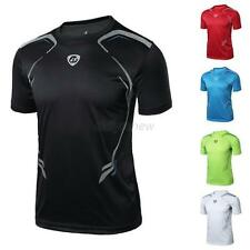 Mens Sport T-shirt Fitness Gym Muscle Quick Dry Stretch Top Tee Shirt M/L/XL/2XL