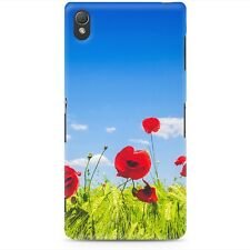 Red Poppies Field Phone Case for Sony fits Sony Xperia Z3 Compact S T ZL SP Z2 C