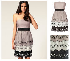 ♥ COAST ELODIE BANDEAU STRAPLESS TIERED SPOT DRESS SIZE 10 14 NEW RRP £155 ♥