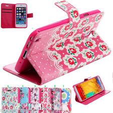 Smart High Quality Mobile Phone Flower Wallet Book Case Flip Cover New Fashion