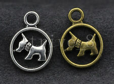 10/40/200pcs Antique Silver/Bronze Lovely Dog Jewelry DIY Charms Pendant 19x14mm