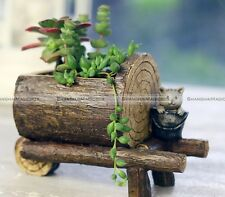 Resin Truck Boat Container Pot Planter Plant Succulent Herb Flower Brown
