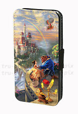 Disney Beauty And The Beast Princess Faux Leather Flip Phone Case Cover Wallet