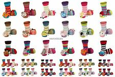 Baby Boys Girls Anti Slip Terry Socks with 3D Animal Rattle age 0-24 months COOL