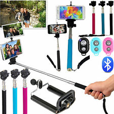 SELFIE STICK MONOPOD WITH BLUETOOTH SHUTTER REMOTE FOR APPLE SAMSUNG HTC LG SONY