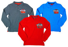 Boys Polo Top Collared Long Sleeve Pixar CARS Lightning McQueen 3 to 8 Years