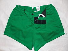 """Traditional Quality 100% Cotton Rugby Sports Shorts Emerald Green 30""""-40"""" New"""