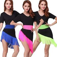 New Tassel Fringe Latin Salsa Ballroom Dance Dress Competition Costume 3 COLORS