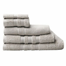 Logan and Mason Low Twist 100% Cotton Towels 600gsm Stone Size / Set Choice