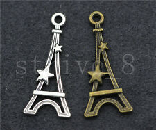 10/40/200pcs Antique Silver/Bronze tower Jewelry Finding Charms Pendant 29x13mm
