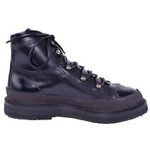 DOLCE & GABBANA Hiking Style Leather Boots Shoes Black 03837