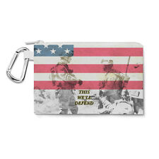 US Army Armed Forces USA Canvas Zip Pouch - Pencil Case Multi Purpose Makeup Bag