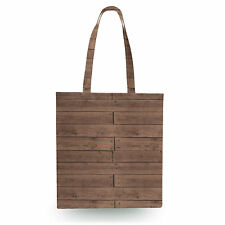 Reclaimed Floorboards Wood Pattern Canvas Tote Bag - 16x16 inch Book Gym Bag Opt
