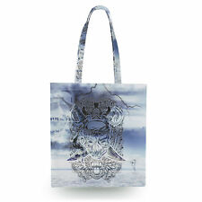 Ghost Pirate Canvas Tote Bag - 16x16 inch Book Gym Bag Optional Zip