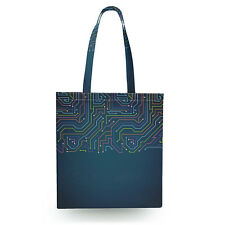 Neon Electronics Canvas Tote Bag - 16x16 inch Book Gym Bag Optional Zip