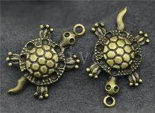 5/20/100pcs Antique Bronze Lovely Sea turtles Jewelry Charms Pendant 32x18mm