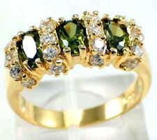 Jewelry Woman's Ring 10KT Yellow Gold Filled peridot Size:7/8/9
