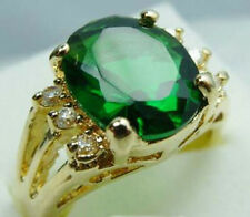 Jewelry Fashion Women's Ring 10KT Yellow Gold Filled Emerald Size:7/8/9 Gift