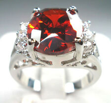 Jewelry Fashion Women's Charming 10KT White Gold Filled Ruby Ring Size:7/8/9