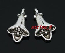 15/60/300pcs Tibetan Silver two-sided Morning Glory Charms Pendant 14x9mm