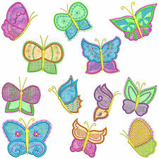 * BUTTERFLIES * Machine Applique Embroidery Patterns *12 Designs