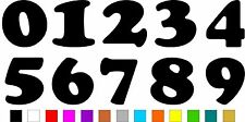 1x Set of Numbers 0 to 9 (4 inches tall) Vinyl Bumper Stickers Decals #a986