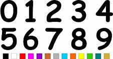 1x Set of Numbers 0 to 9 (3 inches tall) Vinyl Bumper Stickers Decals #a989
