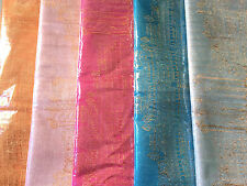 "Cambodian Silk 100% Scarf, Angkor Wat, Khmer Traditional Golden Silk 73""x22"""
